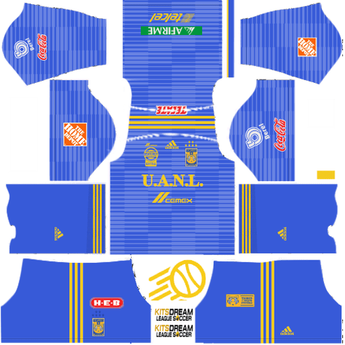 Kits Tigres UANL Dream League Soccer 2020 / 2019 kit
