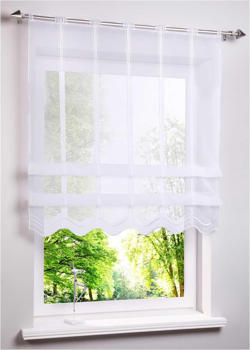 Clipstore Im Modernem Look Weiss Lochleiste Kleine Fenster Raffrollos Vorhange Gardinen Kuche