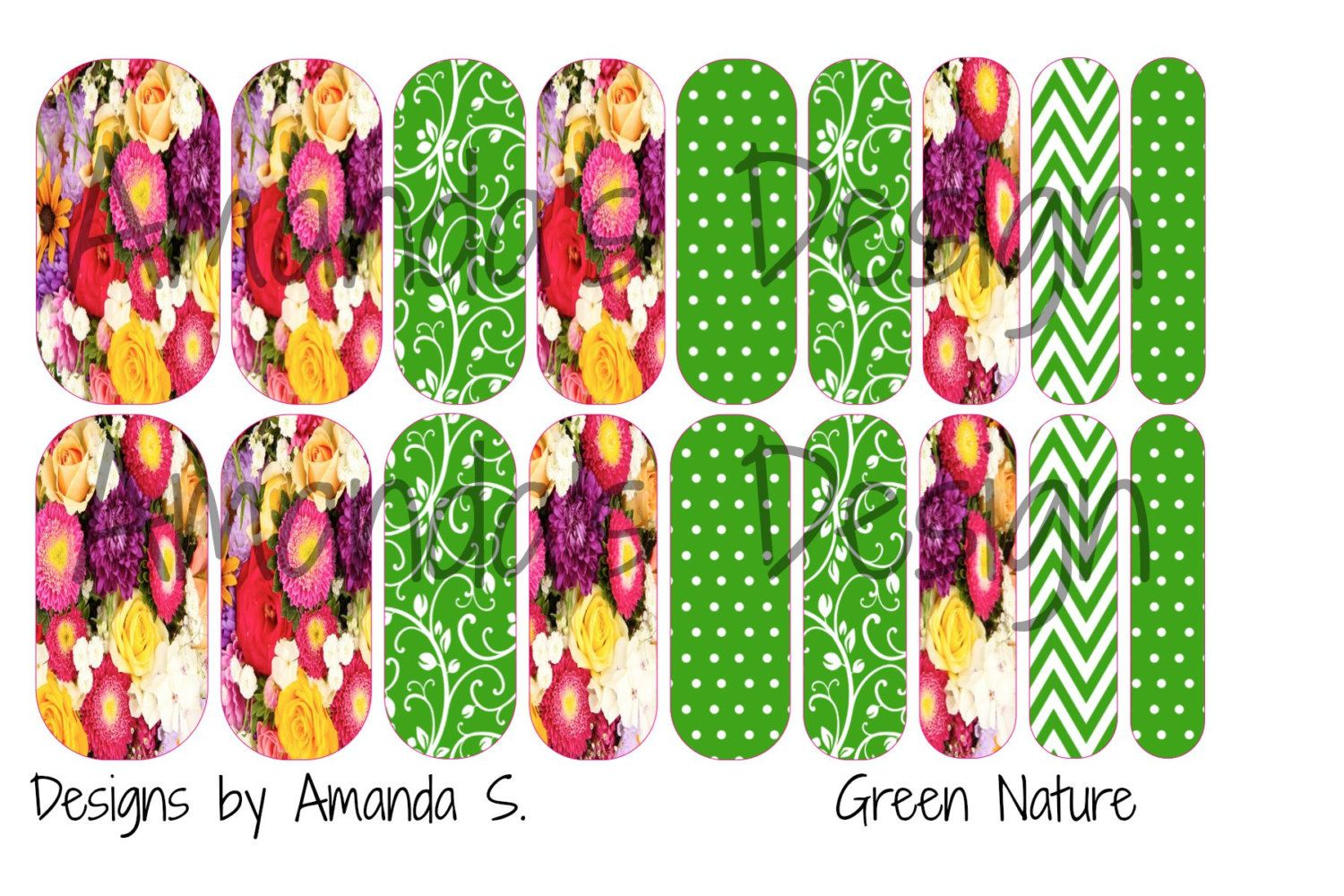 Arbonne Inspired Nail Wraps by customizednailwraps on Etsy | Nail ...