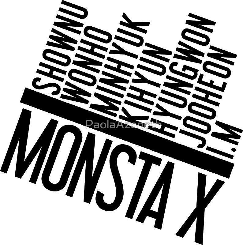 Living A Beautiful Life Monsta X Member Names Stiker Nama Monsta X