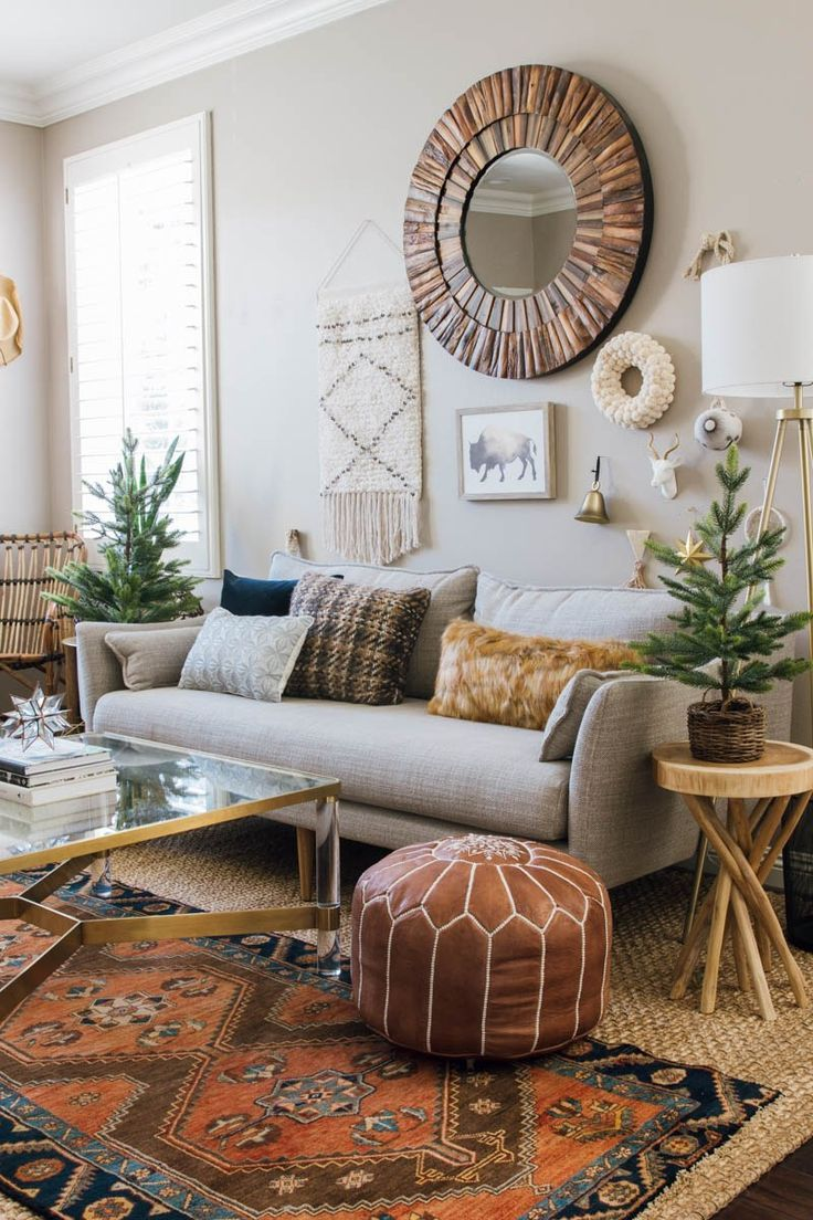 Boho Library Wall Living Room: Easy And Quick Home Refresh: Holiday Gallery Wall