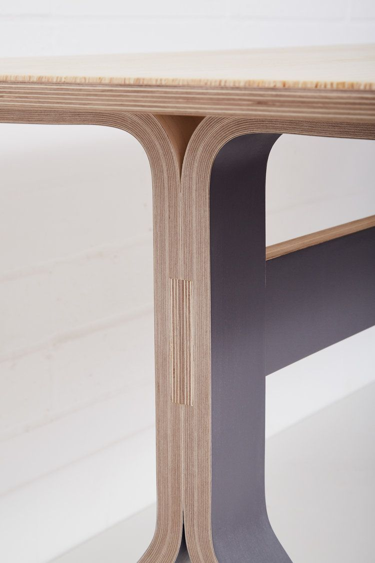 A Close Up Of The Beautiful Vacuum Curved Birch Plywood Table Legs On Lozi S Modern And Minimalistic Sea