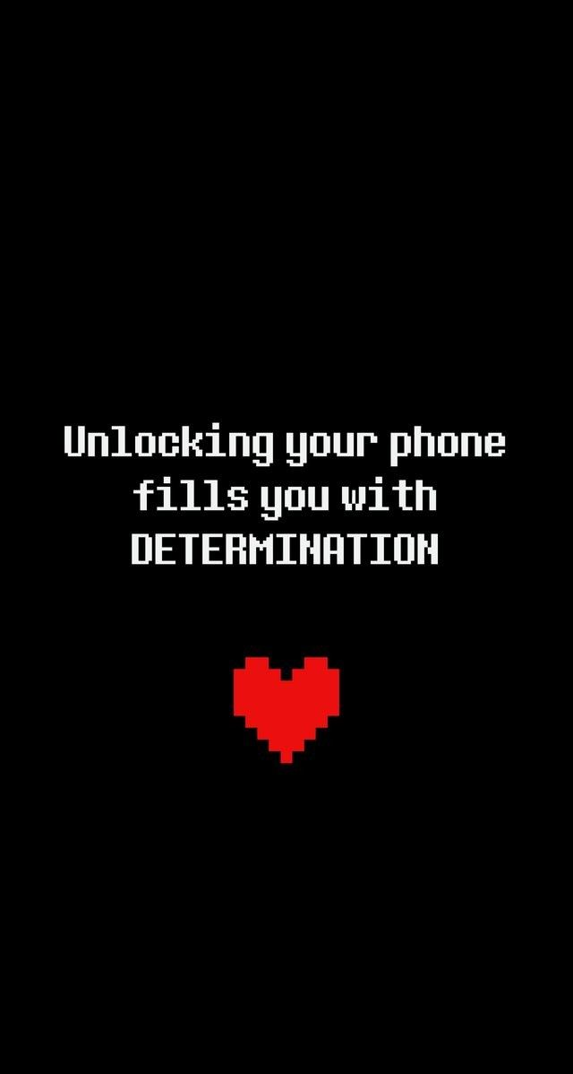 Unlocking your phone fills you with determination