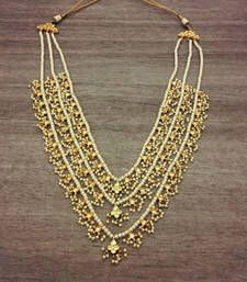 Buy Rani Haar Three Layered Semi-Precious Kundan Stones
