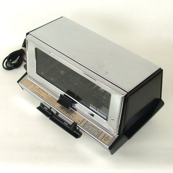 Vintage Toaster Oven Chrome Ge General Electric Made In Usa Vintage Toaster Toaster Oven Chrome