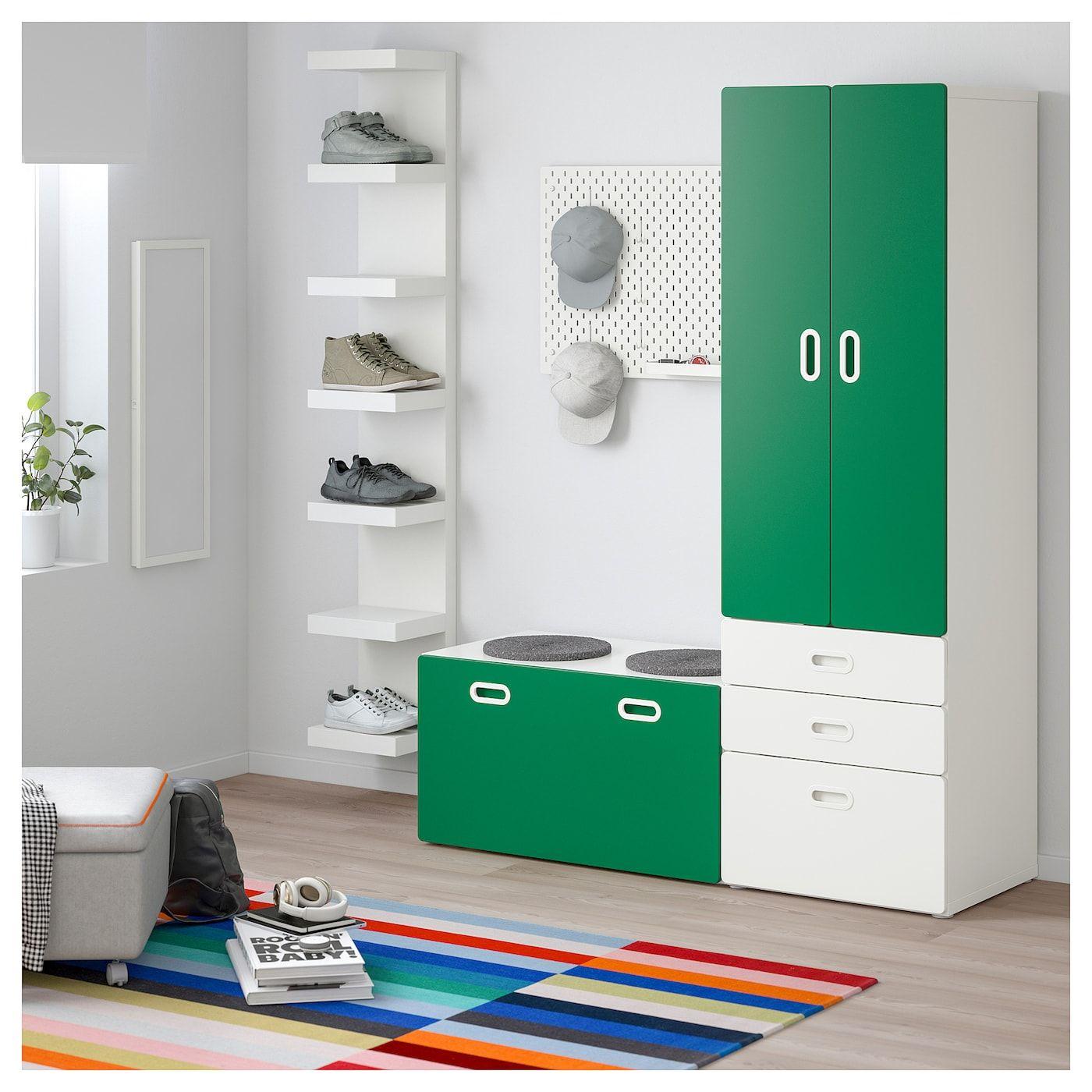 STUVA / FRITIDS Schrank mit Banktruhe weiß, grün in 2020