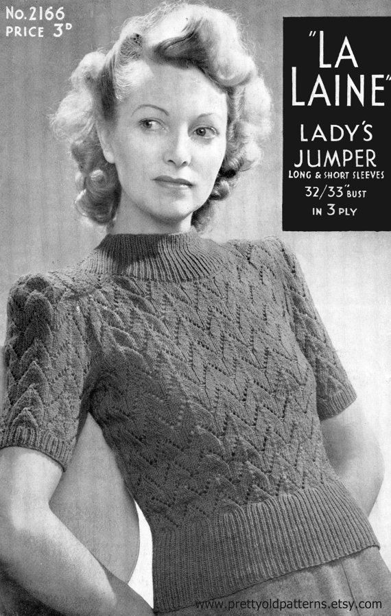 85d3611efbe Celeste Lovely and Lacy 1940s Ladies Lace Blouse Jumper 32