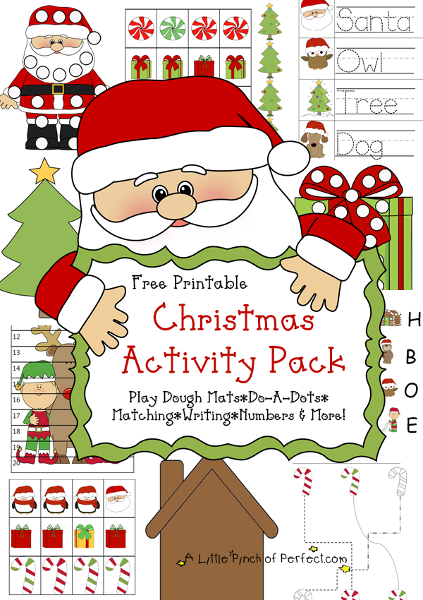 Free Christmas Printable Pack & Learning Activities For Kids - Preschool  Christmas, Free Christmas Printables, Christmas Learning