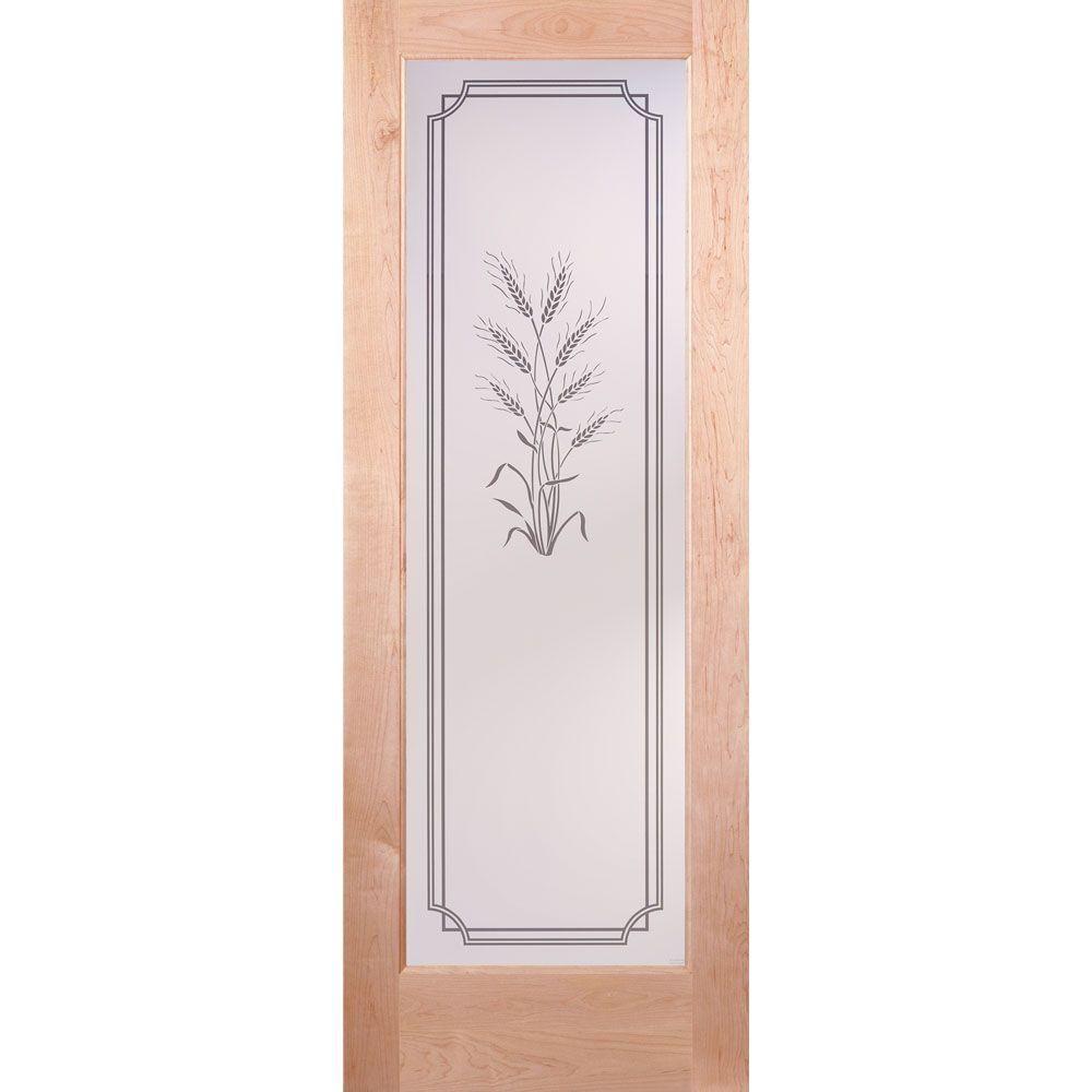 Feather River Doors 28 In X 80 In 1 Lite Unfinished Maple Harvest Woodgrain Interior Door Slab Ln15012468e631 Pine Interior Doors House Paint Interior Tempered Glass Door