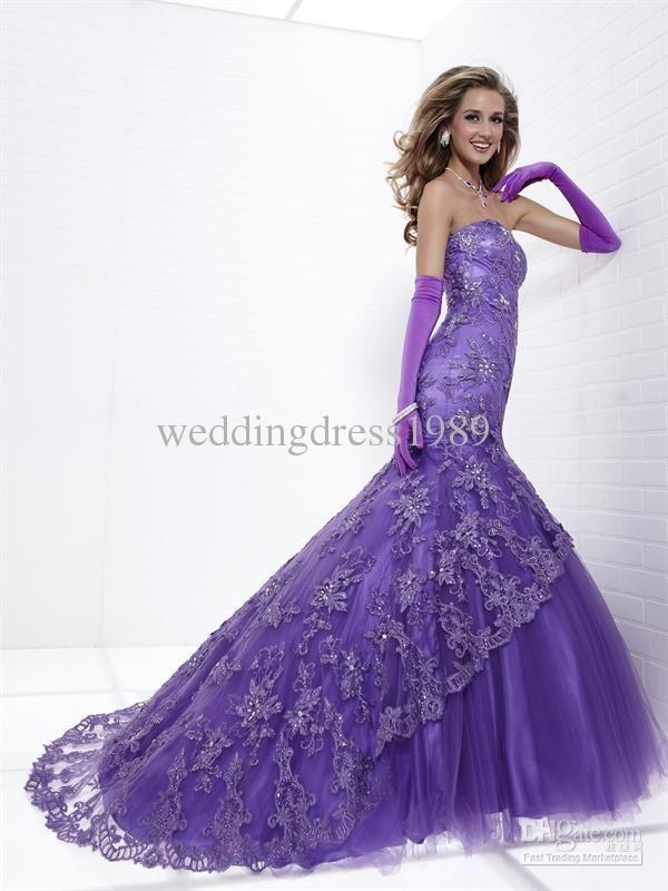 Gowns Purple Wedding Dress