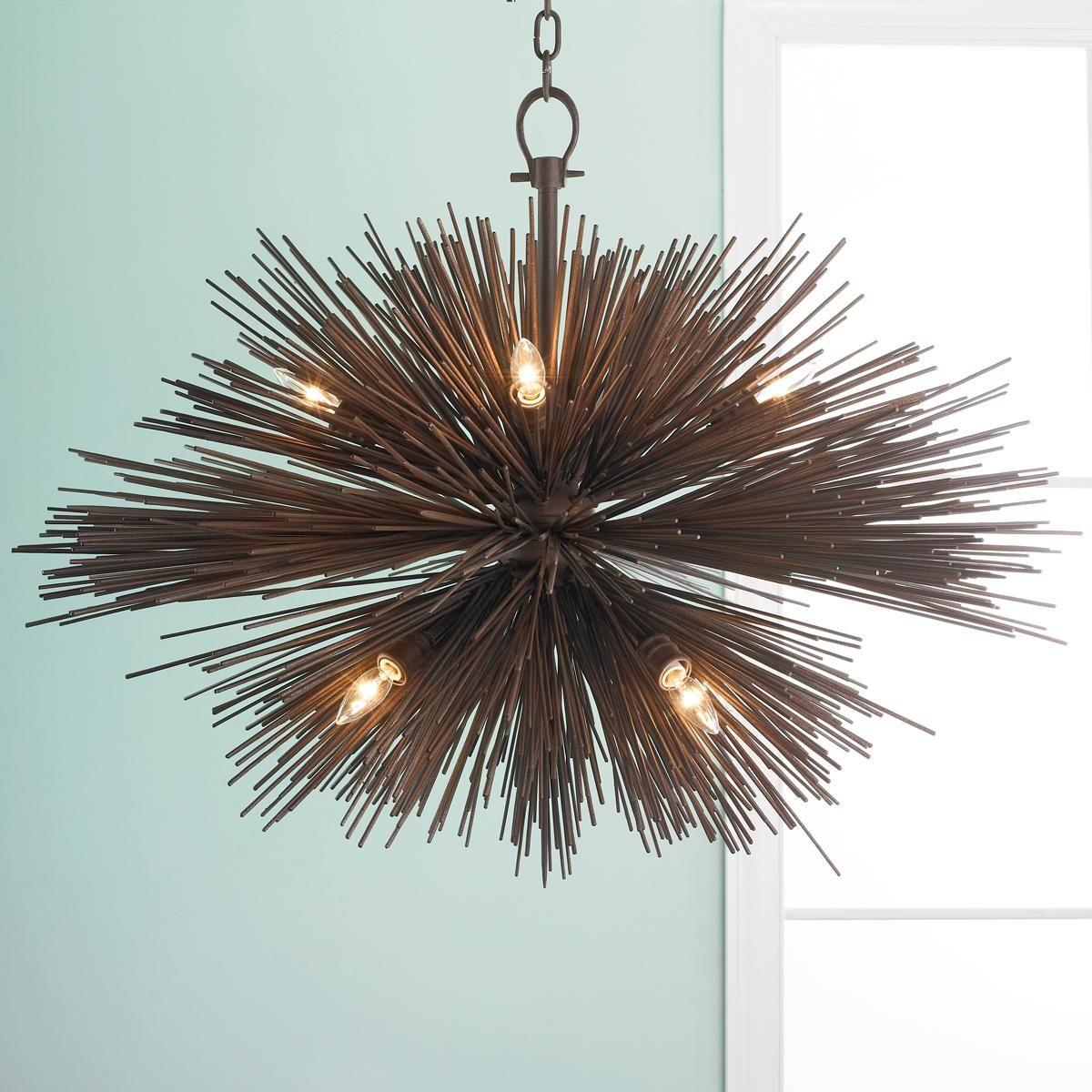 Spike Chandelier Medium Bronze Iron Spikes Burst Into A Modern Urban Style To Create This Dramatic Dining Room LightingDining