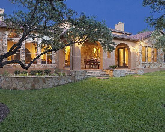 Stucco Exterior Ranch mediterranean exterior ranch design, like: stone work, stucco