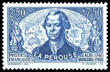 La Pérouse - Albi 1741 - Vanikoro 1788 - Timbre de 1942
