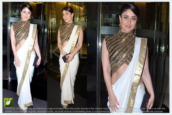 Kareena Kapoor White Bollywood Replica Saree