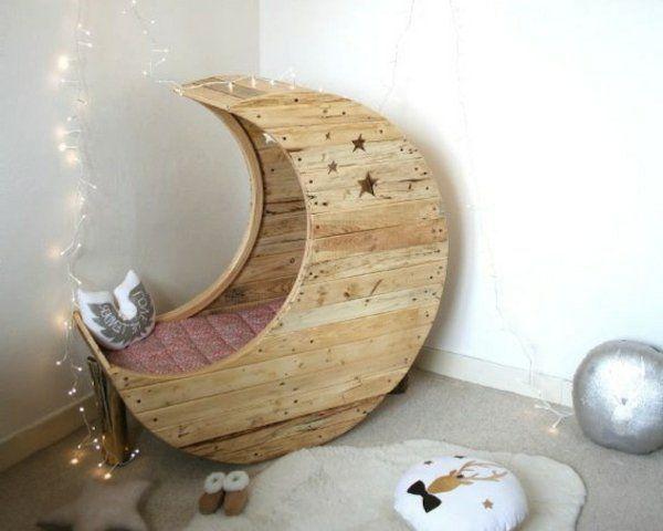 Babybett Selber Bauen möbel aus europaletten babybett krippe mond pallets