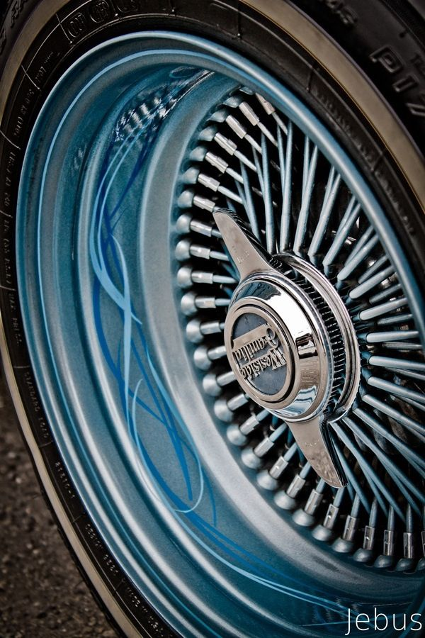 Custom lowrider wire wheel - hand painted | Slabs and Lows ...