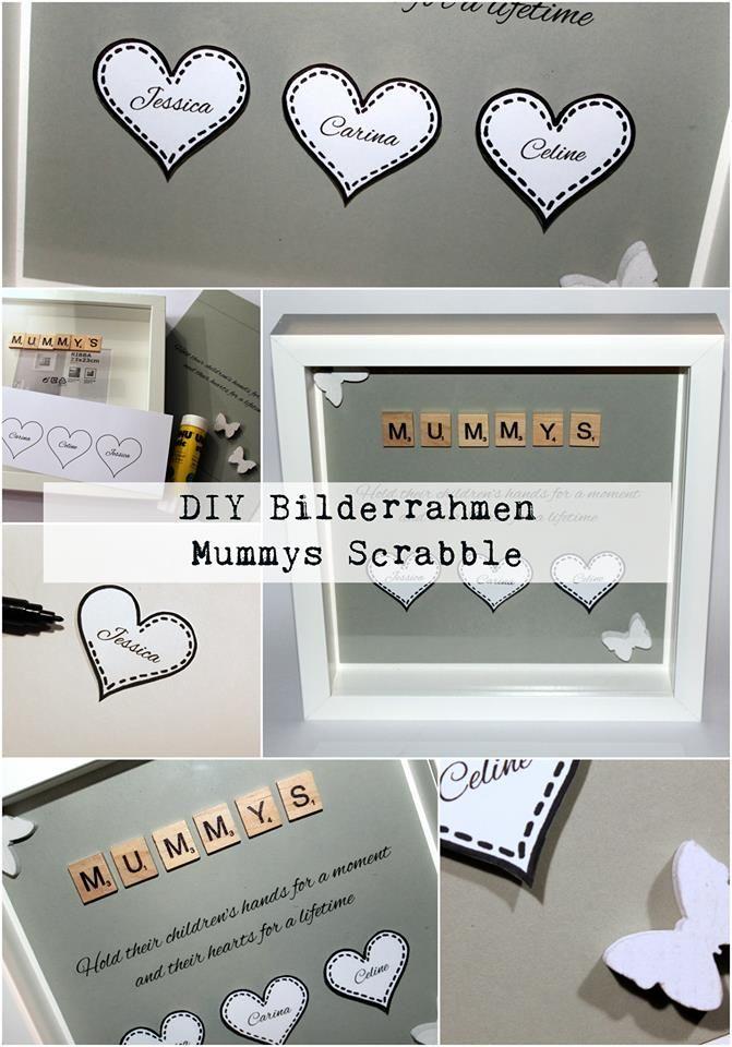 DIY Mummys Bilderrahmen mit Scrabble Buchstaben | Scrabble ...