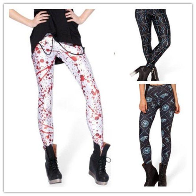 Pants Digital Printing ADVENTURE TIME Leggings Women  Galaxy new2014 pop like #King