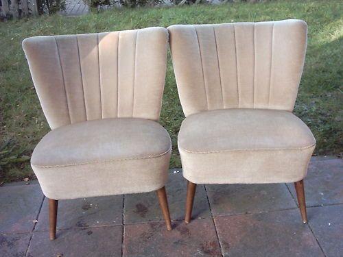 Zwei Wunderschone Identische Cocktailsessel Sessel Aus Den 50er Jahren Cocktailsessel Sessel Mobel Restaurieren