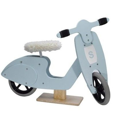 Old fashioned and retro toys at Papillon - Skipper Balance Scooter Blue, £69.99 (http://www.papilloninteriors.co.uk/skipper-balance-scooter-blue/)