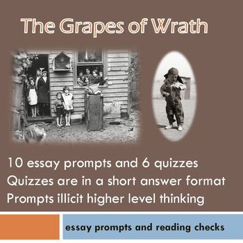 Process Essay Thesis This Is A Collection Of Essay Prompts And Reading Quizzes For The Grapes Of  Wrath Activities Are Divided Into Chunks Of Chapters And There Are Two  Topics Of Essays For High School Students also Business Essay Sample The Grapes Of Wrath Chapter Reading Checks And Essay Prompts  Topic English Essay