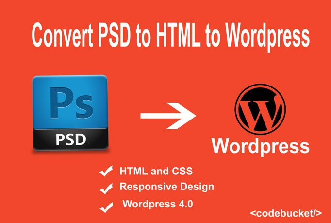 I will convert your PSD, PNG, JPG, PDF file to HTML, CSS, Wordpress and Responsive Designing etc.  If Responsive, your template work on all device like Desktop, Tablet,  Mobile. You will do Unlimited Revision. Services and Support HIGH QUALITY WORK 100% Guaranteed Satisfaction  Your project will:  Pixel Perfect Conversion Table-less layout (Table format only for table) 100% hand-coded and Clean Code Fully Functional (WordPress) Cross Browser Compatibility Semantic Markup W3C Validate