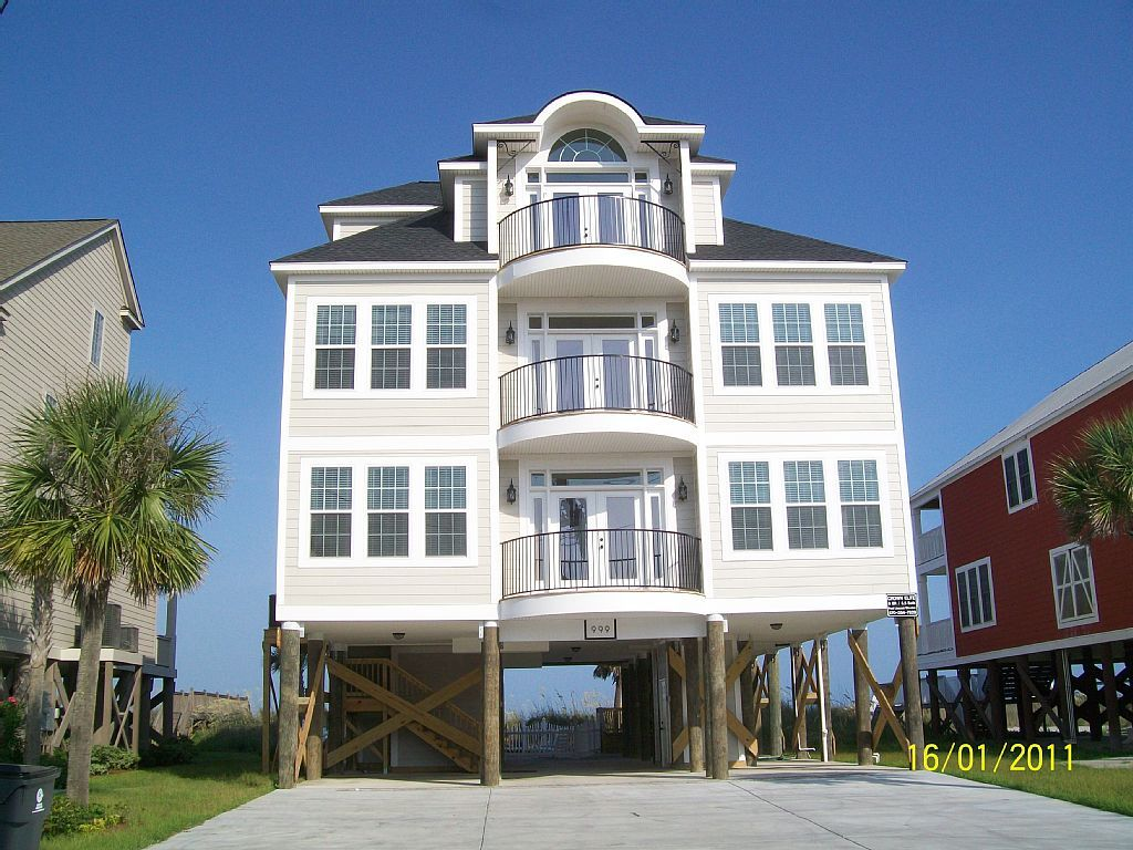 Garden City Beach House Rental: Oceanfront 8 Br/9 Ba W/ Private Pool