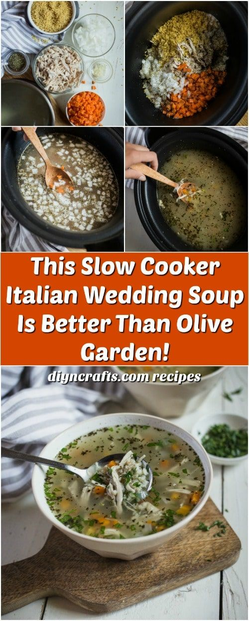 Slow Cooker Italian Wedding Soup #italianweddingsoup