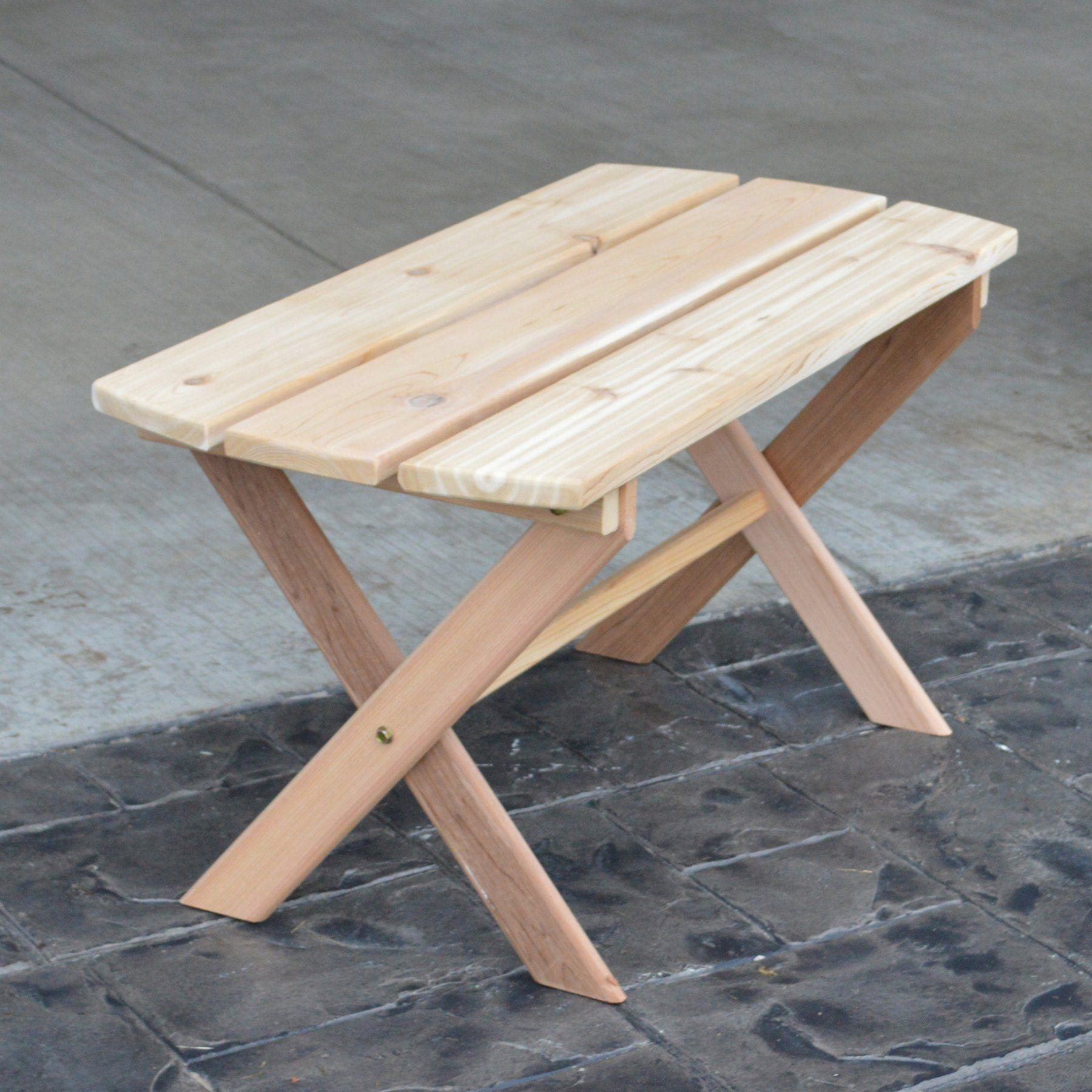 western red cedar coffee table