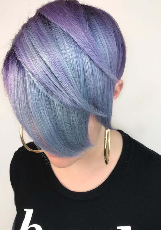 36 Popular Pastel Purple Short Haircuts For Women In 2018 With Images Light Hair Color Light Hair Short Hair Color