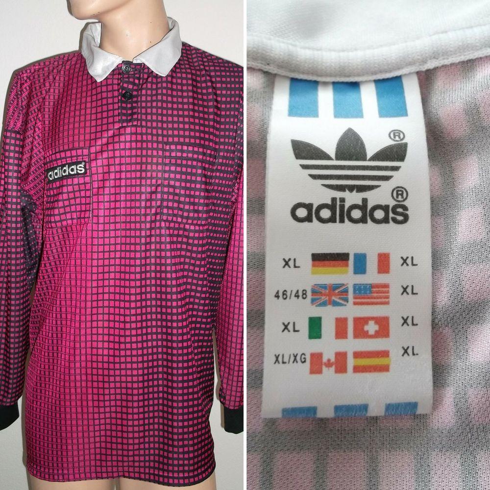 f021999b9 Adidas Vintage football shirt long sleeve referee jersey mint condition Size  XL