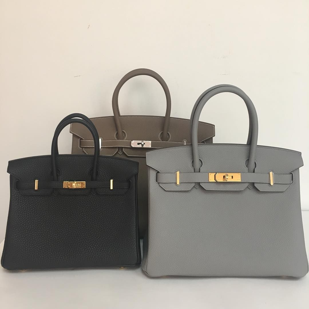25bbb3a107 Hermes 2016 Birkins in 25cm black