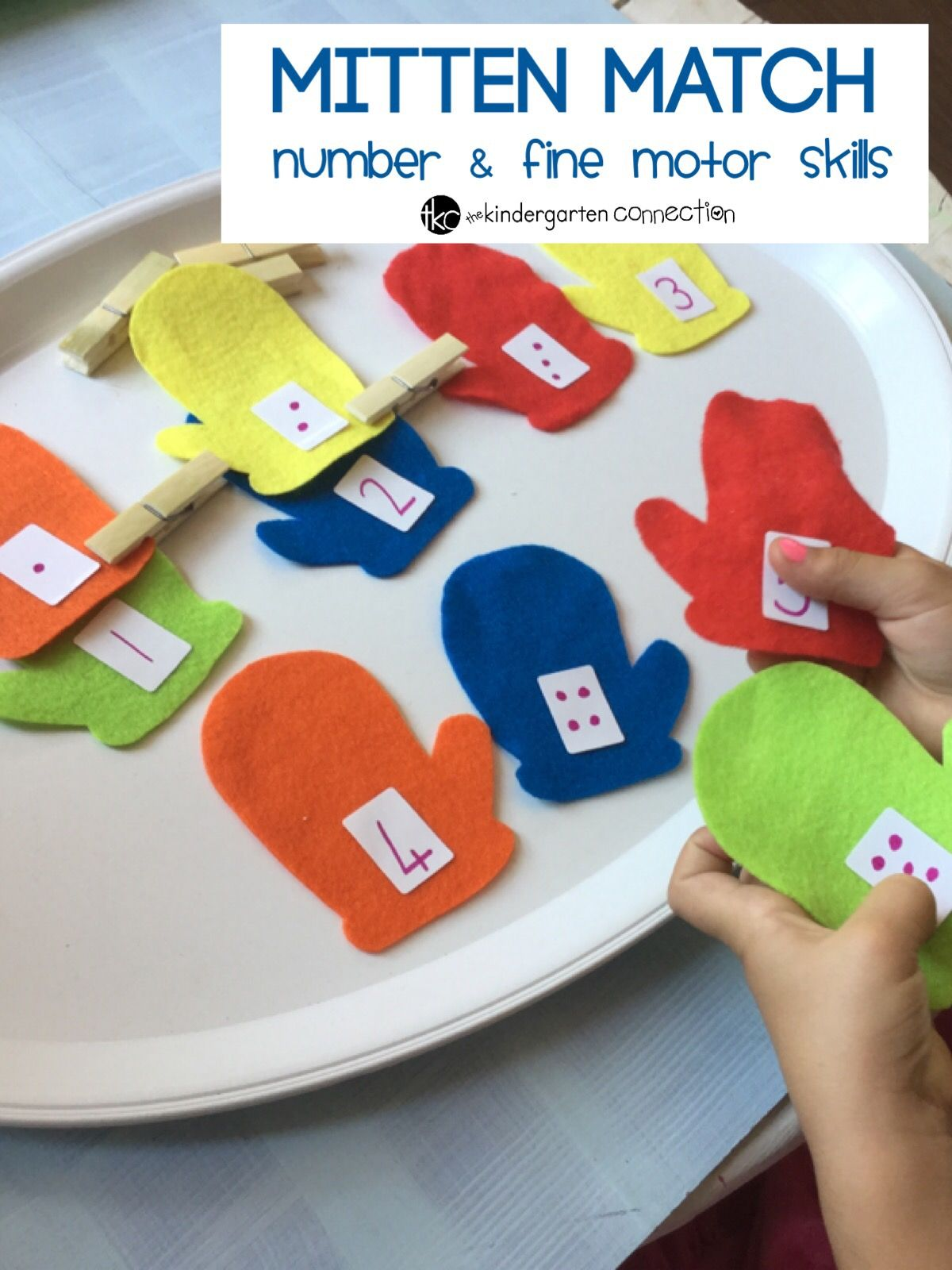 mitten match number and fine motor skills 3 6 year olds awesome learning activities. Black Bedroom Furniture Sets. Home Design Ideas