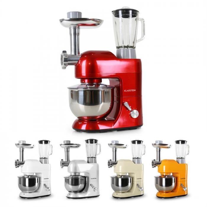 Lucia Rossa Rührmaschine Fleischwolf Mixer 1200W 1,6 PS 5L - kochen mit küchenmaschine