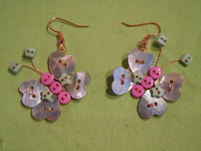 Orecchini Farfalle Madreperla
