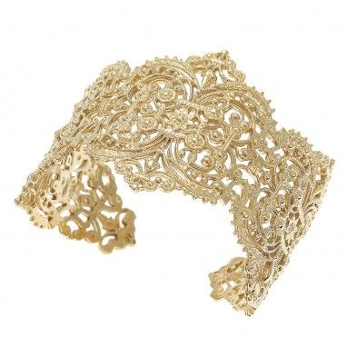 Chantilly Lace Cuff in Yellow Gold by Ileana Makri €675.