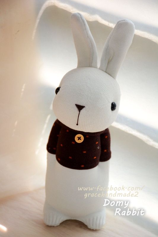 Grace--#363 sock Domy Rabbit | calcetines | Pinterest | Kaninchen ...