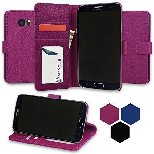 new arrival 7333a a940f Amazon.com: Galaxy S7 Case, Abacus24-7® Samsung Galaxy S7 Wallet ...
