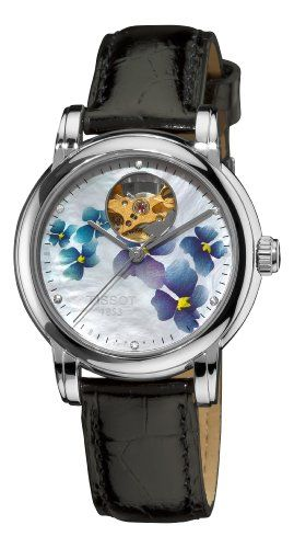 a53501cce2cd Tissot Women s T0502071610600 Heart Automatic Purple Open Dial Watch.  Price   539.48 (discounted from