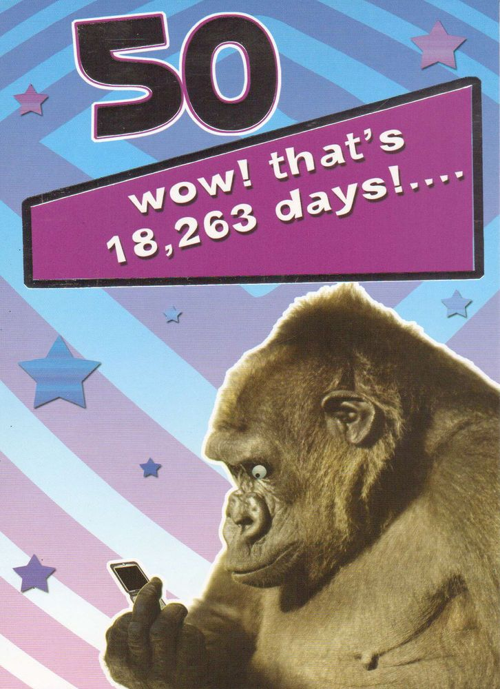 Details about funny humorous 50th birthday card male