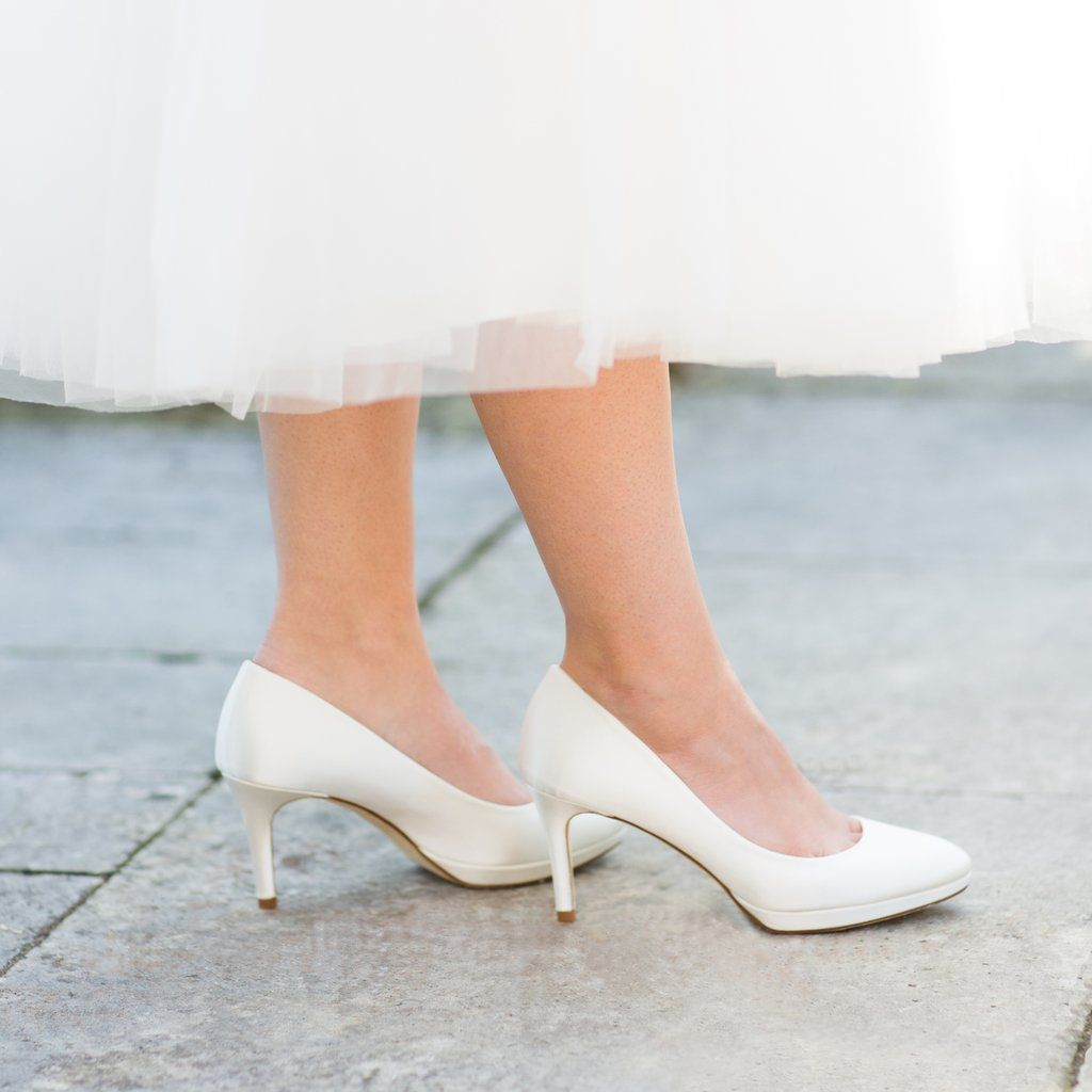 how to dye white satin shoes ivory