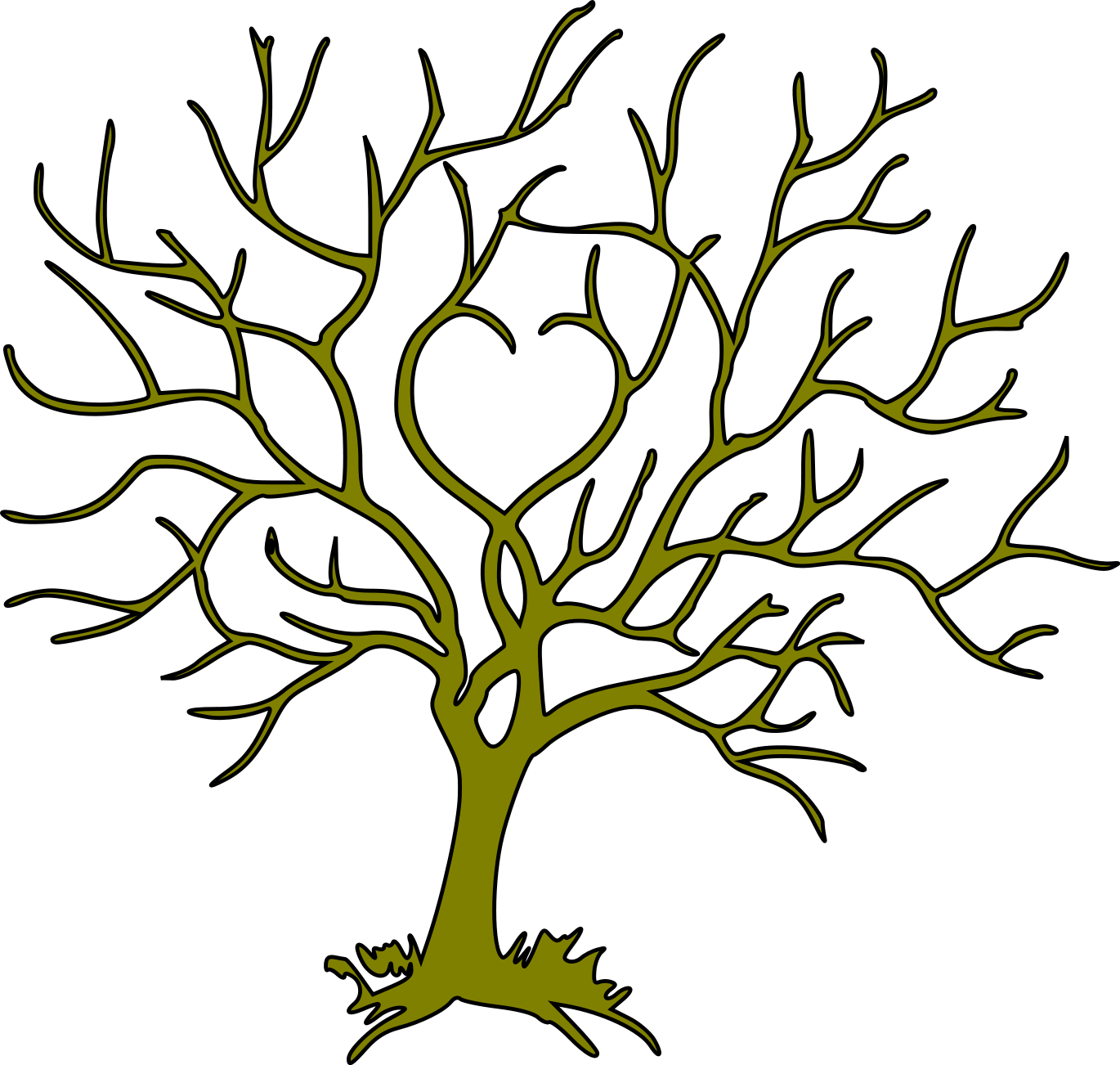 Bare Christmas Tree Clipart.Free Svg Pdc Bare Tree 10 3 2011 Svg Box From