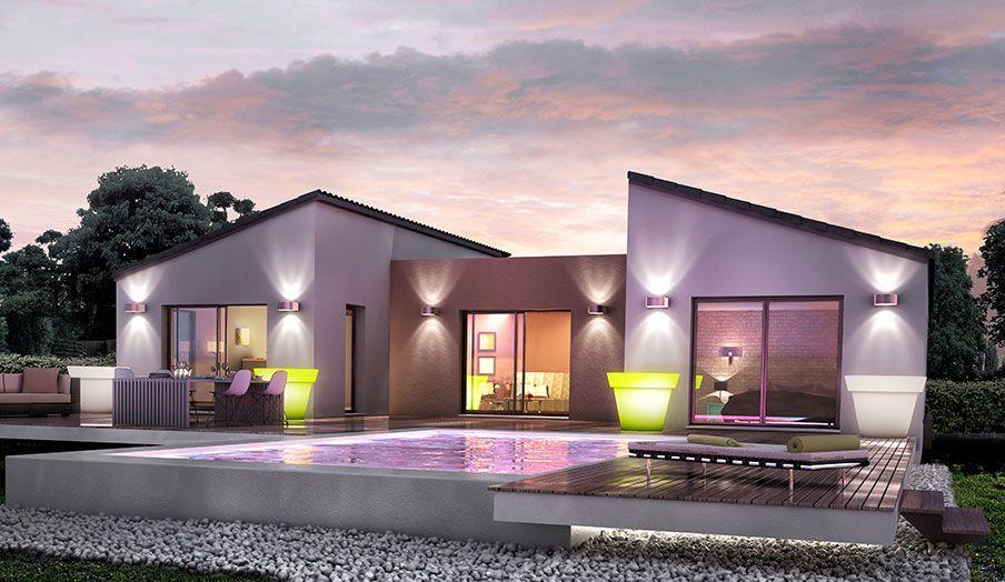 Maison mod le h v a mod les maisons pinterest for Modele maison 140 m2