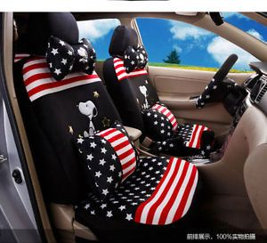 New Snoopy Car Seat Covers Cushion Accessories Set 18PCS 4 Colours