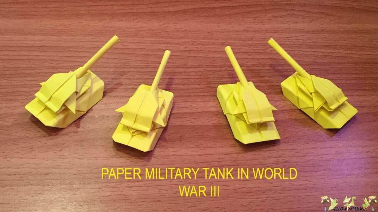 Tutorial how to make a Paper Tank or origami tank. This is new ... | 720x1280