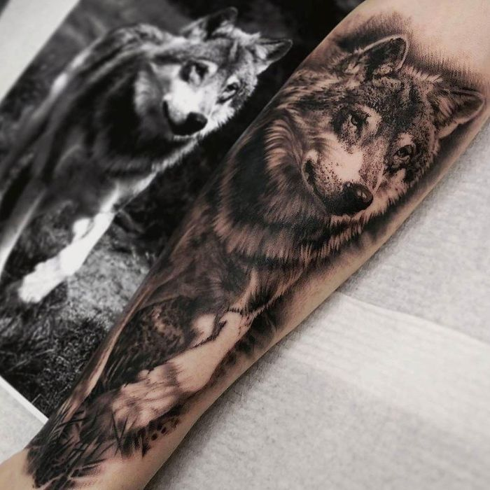 50 of the most beautiful wolf tattoo designs the internet. Black Bedroom Furniture Sets. Home Design Ideas