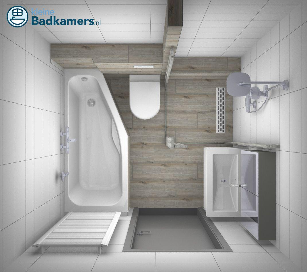 Betere Complete houtlook badkamer - Kleine badkamers | Badkamer ontwerp HZ-72