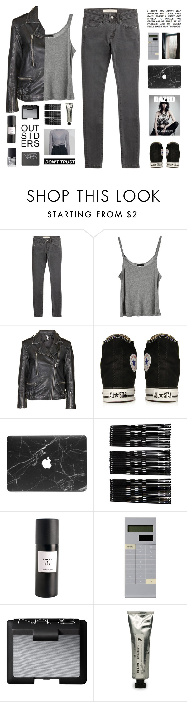 """ I feel the fever grow. "" by centurythe ❤ liked on Polyvore featuring Burberry, DK, Topshop, Converse, Monki, NARS Cosmetics, Eight & Bob, Mark's and L:A Bruket"