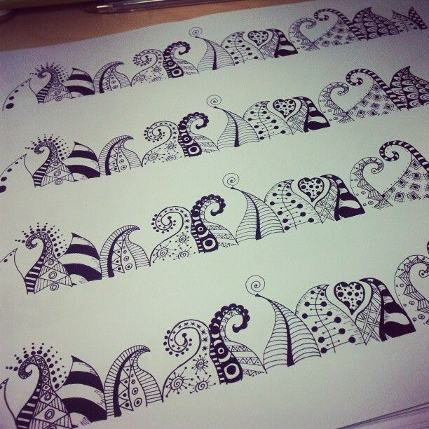 Antiguos Zentangles. by Daoine, via Flickr