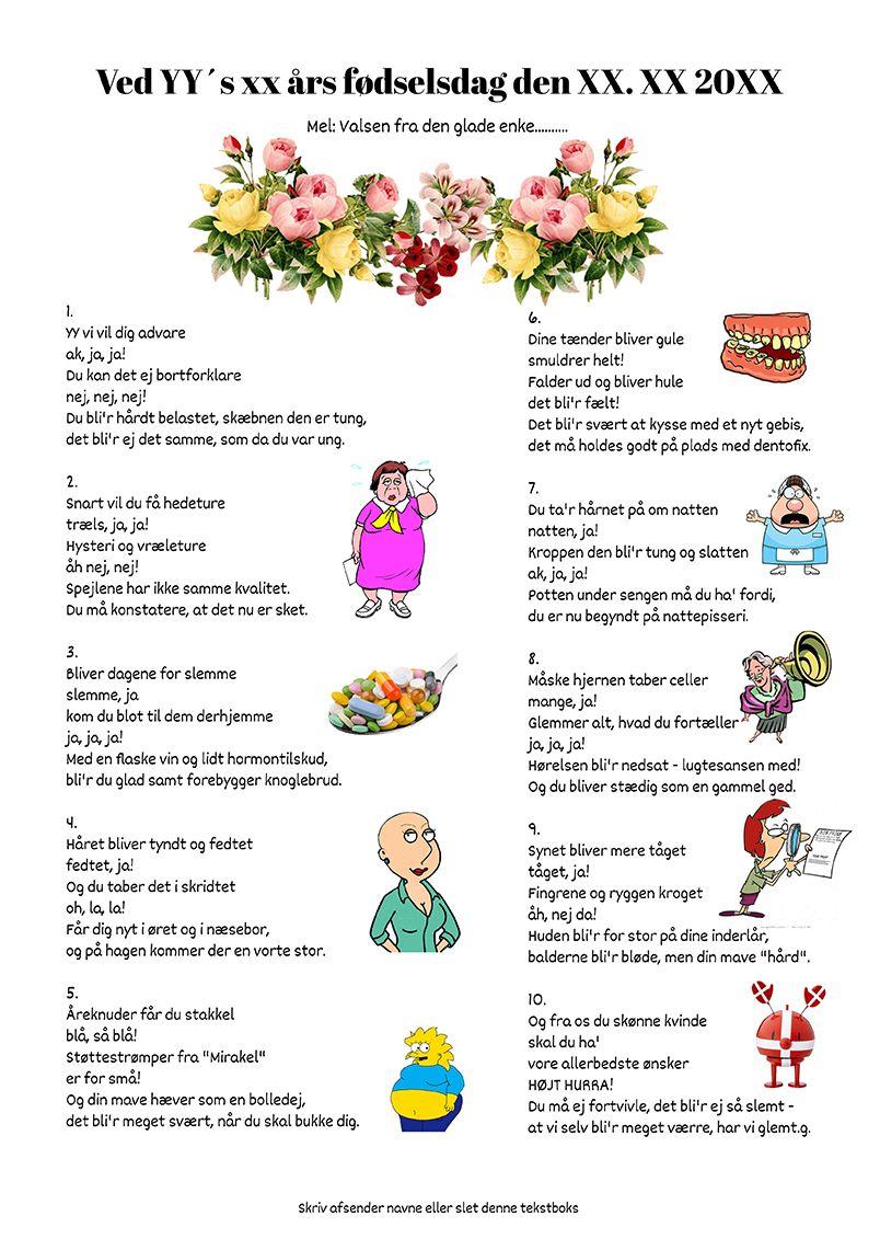 Fodselsdag Festsange Med Mere Fodselsdag Humor Tillykke Med Fodselsdagen Sjov 60 Ars Fodselsdag